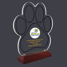 Paw Print Acrylic Sports Trophy