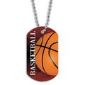 Full Color Basketball Dog Tag