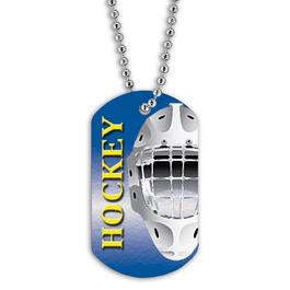 Full Color Hockey Helmet Dog Tags