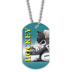 Full Color Hockey Skates Dog Tags