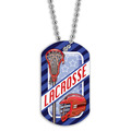 Full Color Lacrosse Helmet Dog Tags