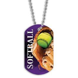 Full Color Softball Dog Tags