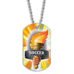 Full Color Soccer Torch Dog Tags