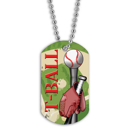 Full Color T- Ball Dog Tags
