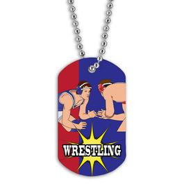 Full Color Wrestling Stance Dog Tag