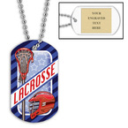 Personalized Lacrosse Helmet Dog Tags w/ Engraved Plate