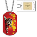 Personalized Wrestling Pin It Dog Tags w/ Engraved Plate
