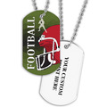 Personalized Football Helmet Dog Tags w/ Print on Back
