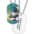 Personalized Hockey Skates Dog Tags w/ Print on Back