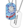 Personalized Volleyball Net Dog Tags w/ Print on Back