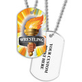 Personalized Wrestling Torch Dog Tags w/ Print on Back