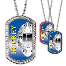 Full Color Hockey Helmet GEM Dog Tags