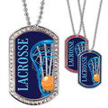 Full Color Lacrosse GEM Dog Tags