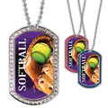 Full Color Softball GEM Dog Tags