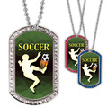 Full Color Soccer Player GEM Dog Tags