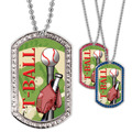 Full Color T- Ball GEM Dog Tags