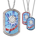 Full Color Volleyball Net GEM Dog Tags