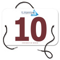 Indurotec(TM) Custom Full Color Large Rectangular Sports Exhibitor Number w/ String