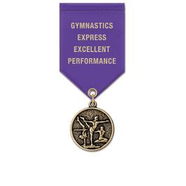 CX Sports Award Medal w/ Satin Drape Ribbon