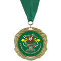 XBX Sports Award Medal w/ Grosgrain Neck Ribbon
