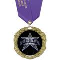XBX Sports Award Medal w/ Satin Neck Ribbon