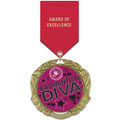 XBX Sports Award Medal w/ Satin Drape Ribbon