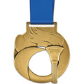Atlas Medal w/ Satin Neck Ribbon