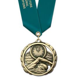 ES Sports Award Medal w/ Satin Neck Ribbon