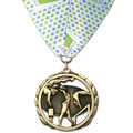 ES Sports Award Medal w/ Custom Millennium Neck Ribbon