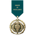 ES Sports Award Medal w/ Satin Drape Ribbon