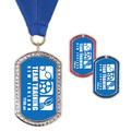 GEM Tag Sports Award Medal w/ Grosgrain Neck Ribbon