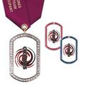 GEM Tag Sports Award Medal w/ Satin Neck Ribbon