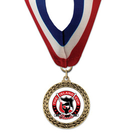 LFL Sports Award Medal w/ Millennium Neck Ribbon