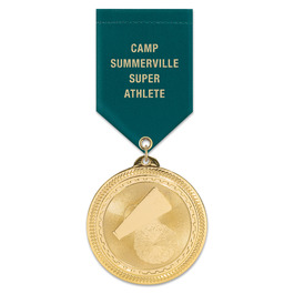 BL Sports Award Medal w/ Satin Drape Ribbon