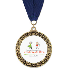 GFL Sports Award Medal w/ Grosgrain Neck Ribbon