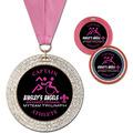 GEM Full Color Sports Award Medal w/ Grosgrain Neck Ribbon
