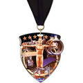 CSM Shield Sports Award Medal w/ Grosgrain Neck Ribbon