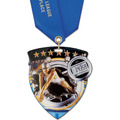 CSM Shield Sports Award Medal w/ Satin Neck Ribbon