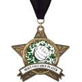 AS All Star Full Color Sports Award Medal w/ Grosgrain Neck Ribbon