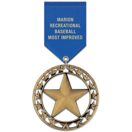 RS Sports Award Medal w/ Satin Drape