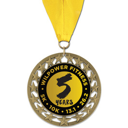 RS14 Sports Award Medal with Grosgrain Neck Ribbon