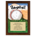 Baseball Award Plaque - Cherry Finish