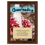Cheerleading Award Plaque - Cherry Finish