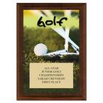 Golf Award Plaque - Cherry Finish