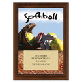 Softball Award Plaque - Cherry Finish