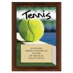 Tennis Award Plaque - Cherry Finish