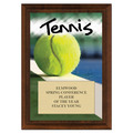 Tennis Award Plaque - Cherry Finish