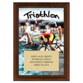 Triathlon Award Plaque - Cherry Finish