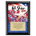 All Star Sports Award Plaque - Black