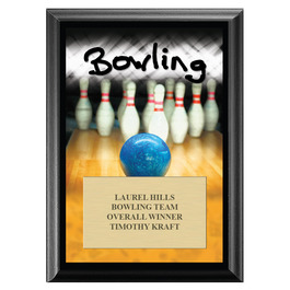 Bowling Award Plaque - Black